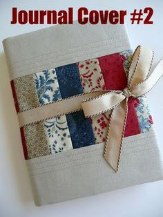 by Roslyn Mirrington of BloomJust in time for Christmas giving, cook up a journal cover (or ten! Notebook Covers, Journal Covers, Quilting Projects, Sewing Projects, Fabric Book Covers, Diary Covers, Quilted Gifts, Fabric Journals, Needle Book