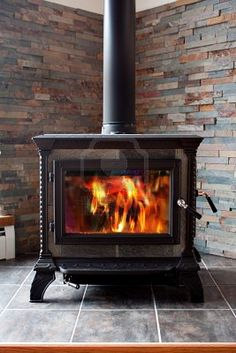 Wood stove surround idea