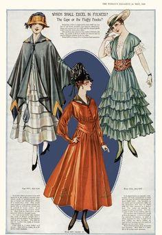 Aesthetic Sharer ZHR on - Historical Fashion 1900s Fashion, Edwardian Fashion, Vintage Fashion, 1920s Fashion Women, French Fashion, Ladies Fashion, Fashion History, Fashion Art, Fashion Design
