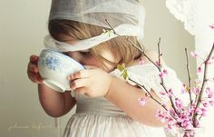 I wish I had my great grandma's tea cup - its at my moms. This would be cute for janie.