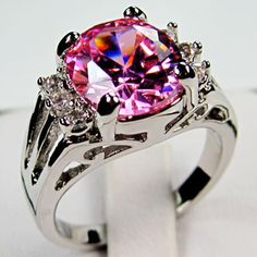 'Lab Saphire Pink WGF10KT Ring 6/ 7/ 8 /9' is going up for auction at 11am Wed, Nov 14 with a starting bid of $12.