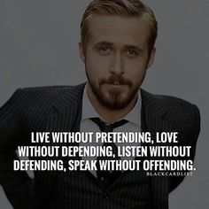 Live Without Pretending....