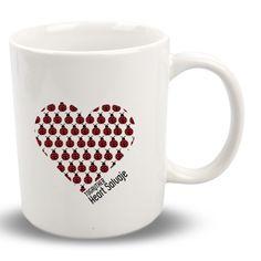 """#Taza #Gay """"Heart Salvaje"""" Togayther de la colección """"Corazones y Plumas"""" + info en http://www.togayther.es/producto/taza-gay-heart-salvaje/ #mug #corazón #heart"""