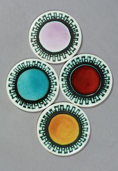 Ann Wynn Reeves; Ceramic Coasters, 1962.