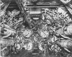 スチームパンクなんてもんじゃねぇ! 第一次世界大戦中に使用されたドイツ海軍潜水艦「Uボート」の中身が丸わかりな貴重写真(1918年)