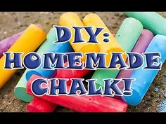 DIY: HOW TO MAKE YOUR OWN HOMEMADE CHALK! Perfect for Kids Arts & Crafts! - YouTube