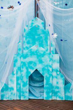 Frozen ice castle photo backdrop