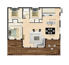 Beavers  Cottages and Models on PinterestPetit Soleil Floor Plan sq ft  Add laundry