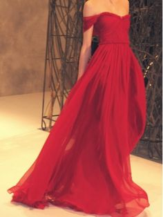 Amazing Red Chiffon strapless sweetheart neckline Prom Dress,Evening Dress $172.99