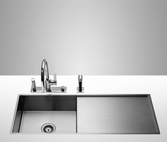 WATER UNITS 38401000 Enkeltvask med afløbsbakke, 1110 mm x 405 mm børstet rustfri stål