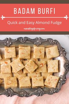 Fail proof dessert with almond flour, this Badam Burfi recipe is easy to make, needs 5 minutes of cook time & is perfect when you crave for something sweet. #ministryofcurry #indiansweets #easyrecipes Indian Food Recipes, Real Food Recipes, Keto Recipes, Vegetarian Recipes, Most Popular Recipes, Favorite Recipes, Almond Flour Desserts, Burfi Recipe, Biryani Recipe