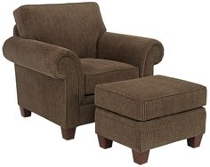 Travis Chair and Ottoman by Broyhill Furniture