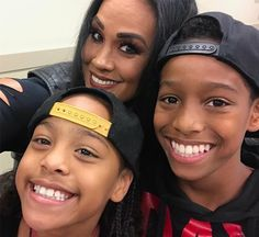 Sarona Reiher with her cousin Jonathan Fatu kids Jayla & Jaiden