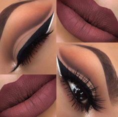 Best Ideas For Makeup Tutorials    Picture    Description  Mauve cut crease    - #Makeup https://glamfashion.net/beauty/make-up/best-ideas-for-makeup-tutorials-mauve-cut-crease/