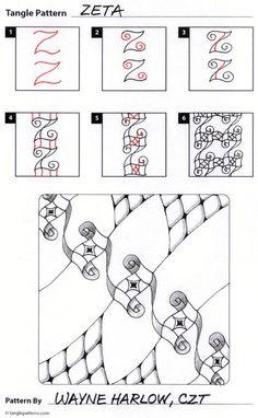 Zeta steps zentangle