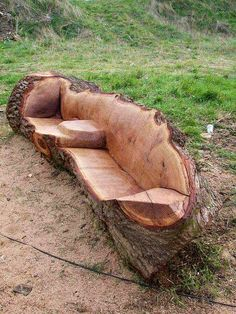 Log Bench- This is the coolest thing I've seen in a time.