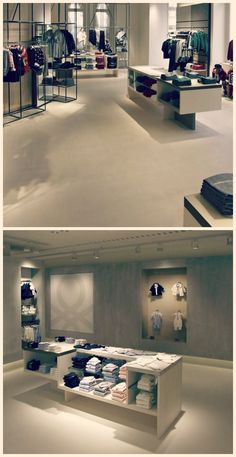 Microtopping renovated square metres of interior flatwork in the largest Benetton store in Vienna. An aesthetic and functional choice that perfectly matches the store's concept of continuous, open space. Concrete Finishes, Less Is More, Your Perfect, Benetton, Minimal Design, Vienna, Minimalism, Living Spaces, Concept