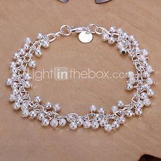 Dulces 19cm de la Mujer de aleación de plata campanas en forma de la pulsera del encanto (1 PC) - USD $4.99