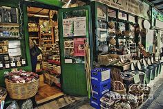 Photograph of a  Charming full of character  little Herb/Spice shop in Syros Greece