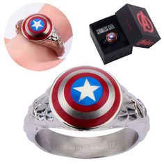 Captain America 3D Shield Ring