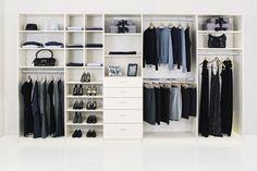 aménagement de dressing avec meuble de rangement en blanc