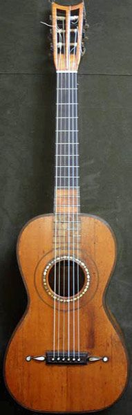Early Musical Instruments, antique Romantic Guitar by Panormo 1828 for Huerta