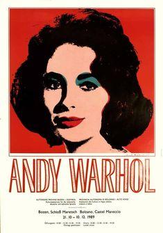 Original vintage pop art poster Elisabeth Taylor Andy Warhol excellent A 1989