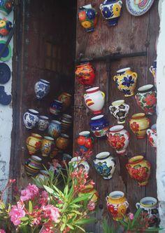 Wall pockets in Frigiliana, Spain