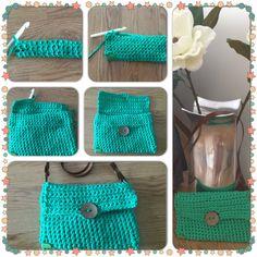 Bolso verde veraniego en trapillo