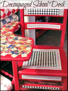 from Cozy Little House  Maybe do this with my stepladder stool