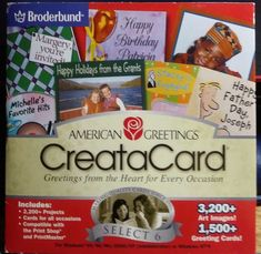 American greetings creatacard old gold version 2 httpwww american greetings creatacard broderbund select 6 pc cd m4hsunfo