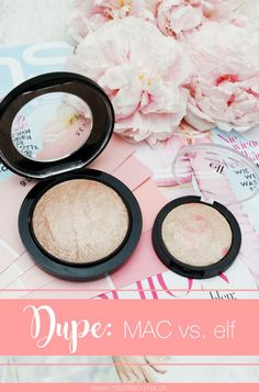 "Hier ist mein neustes Mac Dupe: Das Mac Soft and Gentle Dupe von elf. Auf meinem Beauty Blog bekommt ihr den Vergleich zwischen dem elf Baked Blush ""pinktastic"" und dem Mac Mineralize Skinfinish Soft and Gentle. Drugstore Makeup Dupes, Mac Makeup, Makeup Brands, Makeup Cosmetics, Make Up Dupes, Skincare Dupes, Beauty Dupes, Best Makeup Tips, Best Makeup Products"