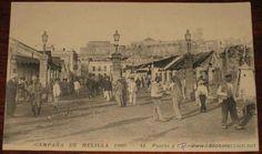 CAMPAÑA DE MELILLA 1909. GUERRA DE MARRUECOS, RIF . PUERTA Y CALLE SANTA BARBARA. BOU