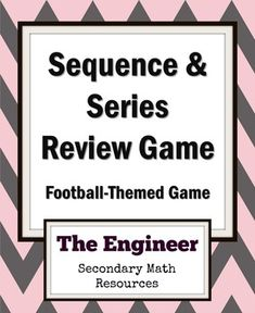 Arithmetic And Geometric Sequences And Series Chart  Teaching