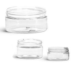 Buy Low Profile Clear Plastic jars from Bulk Apothecary today.  We are a stocking distributor of plastic jars, bottles, tubes, tins and more. Best Prices Guaranteed.