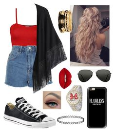 """""""Untitled #132"""" by elliethemunchkin on Polyvore featuring beauty, WearAll, Topshop, Relaxfeel, Converse, Casetify, Lime Crime, Disney and Forever 21"""