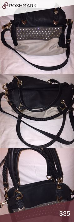 Cross body bag Black rhinestone cross body bag from Maurice's.  Great condition Maurices Bags Crossbody Bags