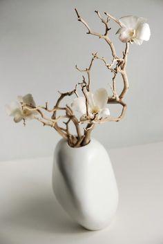 """Akasha Rock Vase 8"""" White $8.99 each / 3 for $8 each"""