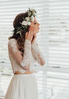 Two Piece Wedding Dress, Wedding Dress Chiffon, Chiffon Skirt, Bridal Dresses, Wedding Gowns, Flower Girl Dresses, White Chiffon, Chiffon Rock, Wedding Skirt
