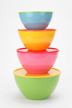 Two-Tone Mixing Bowl - Set Of 4 $34  #UrbanOutfitters