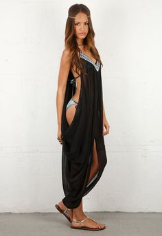 Mara Hoffman Swimwear Beaded Dashiki <3 this coverup~~