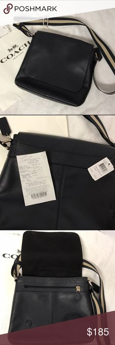 Brand new Men coach cross body bag It's brand new. Bought for a friend as a gift. Didn't give it out for some reason. Original $375. I'd love to answer your questions regarding to the item.  Also love to offer a 25% discount if you buy 4 or more. Thanks for checking my closet, hope you'll find things you like here. I always ship safely and quickly. Coach Bags