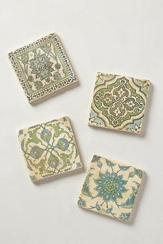 Botticino Marble Coasters/Anthropologie