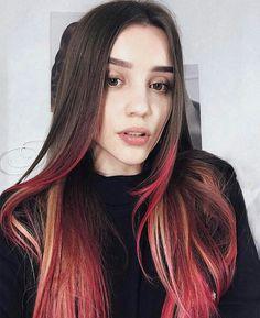 волосы, прическа, крашенные волосы, кончики розовые