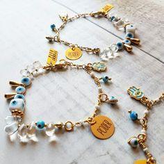 Ref:PU2128  Pulsera protection power @pavoirreal #bracelet #evileye #protection #hamsa #power #golden #handmade #handcrafted #yocomprocolombiano💯✔️