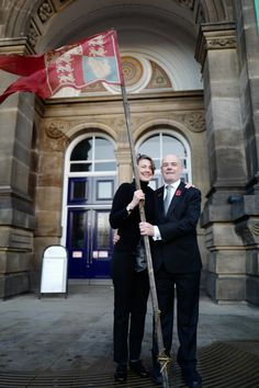 Madge Howdill's Armistice Flag outside Leeds City Museum, on November Being carried through the streets once again. Photograph copyright of Duncan McCargo. Peace Meaning, Leeds City, City Museum, Banners, November, Photograph, Flag, November Born, Photography