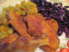 The best fried chicken ever. www.thesouthinmymouth.com Enchiladas, Fried Chicken, Fries, Meat, Food, Essen, Meals, Yemek, Baked Fried Chicken