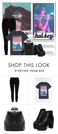 """Halsey"" by aminkicakloko ❤ liked on Polyvore featuring River Island and Urban Outfitters"