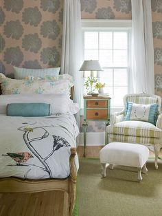 pretty vintage chic bedroom
