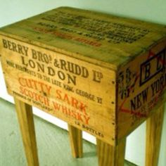 Old vintage box DIY side table!